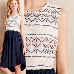 Anthro Dolan Blue Sabado Knit High Low Dress XS